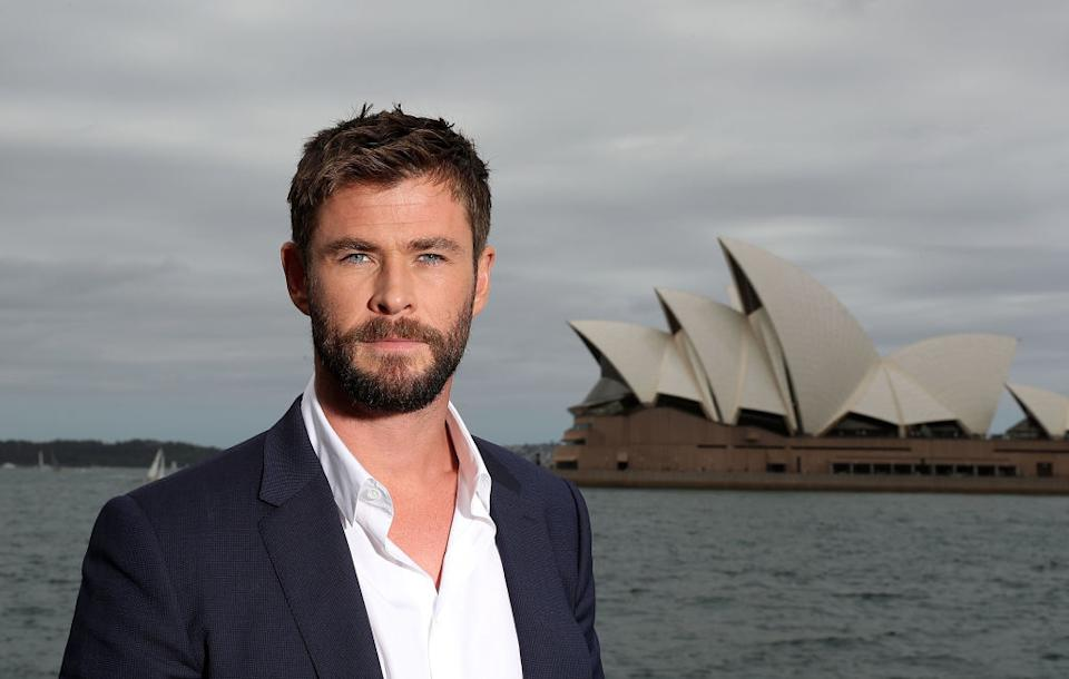 Chris Hemsworth is searching for sharks. (Photo: Mark Metcalfe/Getty Images for Disney)