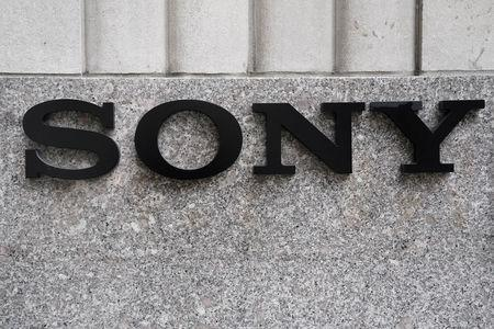 FILE PHOTO: The Sony logo is seen on a building in the Manhattan borough of New York City