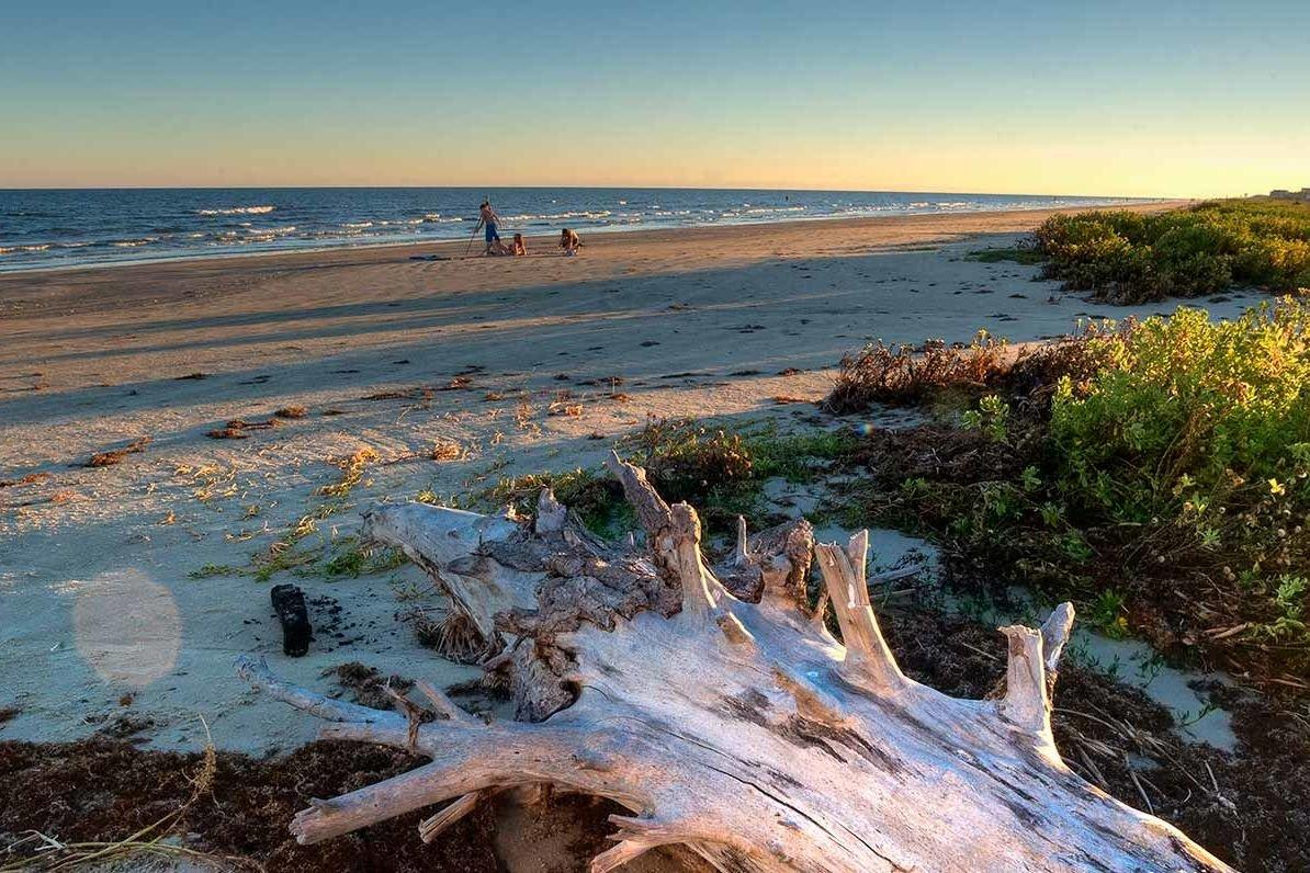 """<p>At the west end of this popular island just an hour from Houston, this <a href=""""https://tpwd.texas.gov/state-parks/galveston-island"""" target=""""_blank"""">quiet treasure</a> protects 2,000 acres of upper Gulf Coast barrier island ecosystem, including beautiful beaches, lagoons, bay, and salt marshes. Note: the beach-side area of the park is closing for renovations on July 15, 2019, and will remain so for approximately three years. However, the north side of the park will stay open throughout, and the park remains a beautiful asset worth visiting for people who love to swim, fish, picnic, bird watch, hike, paddle, and camp. Entry fee is $5 per adult (children 12 and younger are free). </p>"""