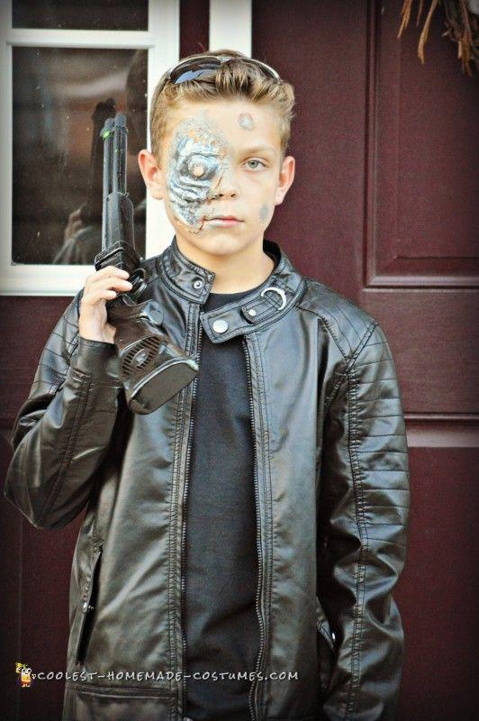"""<p>Tough-guy teens will feel pretty cool channeling Arnold Schwarzenegger—and you'll be amazed how easy that makeup is to pull off!</p><p><strong>Get the tutorial at <a href=""""http://www.coolest-homemade-costumes.com/terminator-costume-for-tween-boy/"""" rel=""""nofollow noopener"""" target=""""_blank"""" data-ylk=""""slk:Coolest Homemade Costumes"""" class=""""link rapid-noclick-resp"""">Coolest Homemade Costumes</a></strong><strong>.</strong></p><p><strong><a class=""""link rapid-noclick-resp"""" href=""""https://www.amazon.com/YoungSoul-Spring-Leather-Jackets-Oblique/dp/B06XT32CWL/?tag=syn-yahoo-20&ascsubtag=%5Bartid%7C10050.g.21603260%5Bsrc%7Cyahoo-us"""" rel=""""nofollow noopener"""" target=""""_blank"""" data-ylk=""""slk:SHOP PLEATHER JACKET"""">SHOP PLEATHER JACKET</a></strong></p>"""