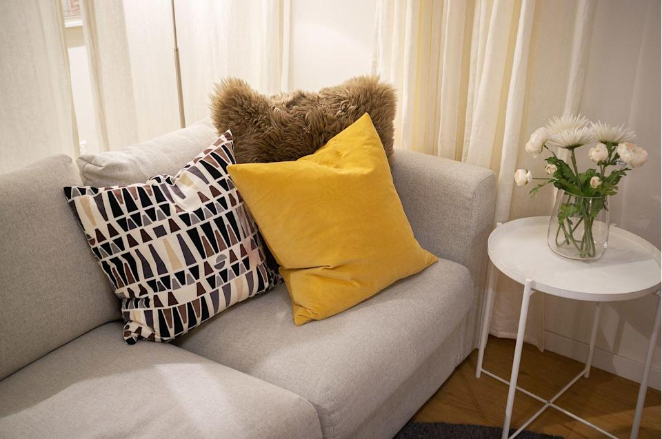 <p>Throw pillows may be for show, but that doesn't mean anyone in your house and anyone who comes over isn't leaning and sitting on them. </p><p><strong>How to clean</strong>: These are super easy: just throw them in the washing machine on a gentle cycle, then fluff them in a dryer on no heat or low heat with some tennis balls. But be sure to check the instructions on the tag if it's there.</p>