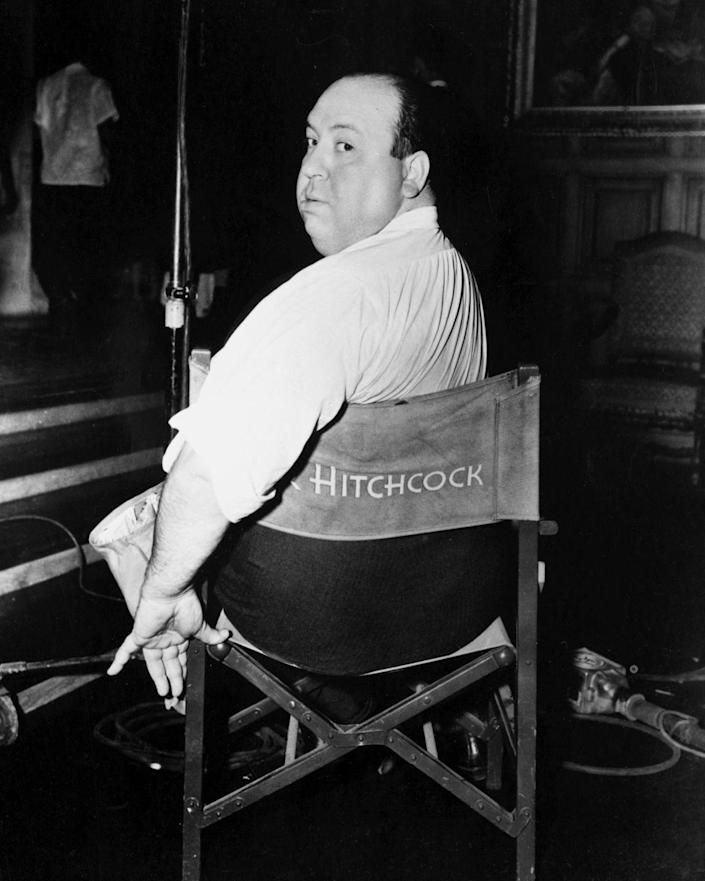 """<p>Here, English film director and """"Master of Suspense"""" Alfred Hitchcock poses on a film set in 1940. The 1940s turned out to be a massive decade for the director with the release of his titles <em>Rebecca</em> (1940), <em>Shadow of a Doubt</em> (1943), and <em>Spellbound</em> (1945), among others. </p><p>Hitchcock later went on to direct <em>Rear Window</em> (1954), <em>North by Northwest</em> (1959), <em>Psycho</em> (1960) and <em>The Birds</em> (1963) - garnering him worldwide recognition.</p>"""