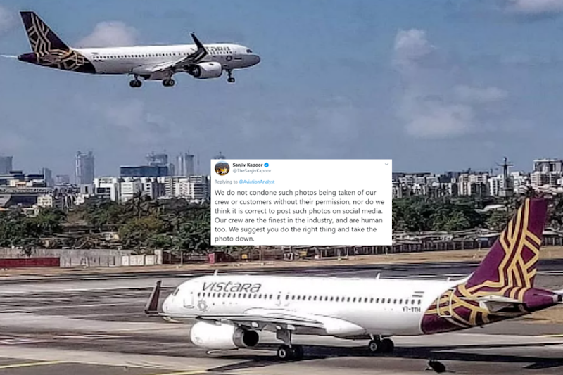 Vistara Chief Shuts Down Man Complaining About Air Hostess Napping in Lounge