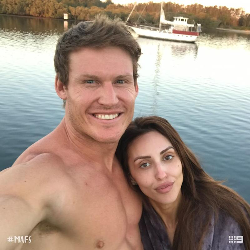 MAFS' Seb Guilhaus and Lizzie Sobinoff pose for a selfie together