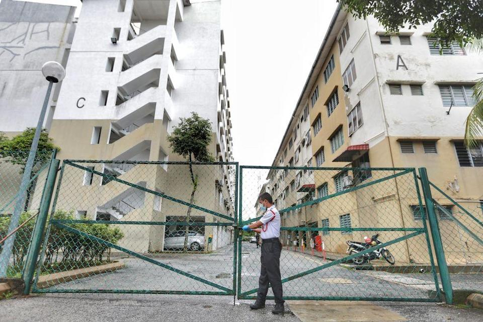 A general view of the Tropicana Golf and Country Resort's dormitory for workers in Petaling Jaya October 11, 2020. — Picture by Ahmad Zamzahuri