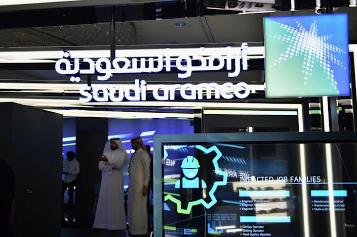 Saudi Aramco shares rose after its stock market debut. Photo: Fayez Nureldine/AFP via Getty Images