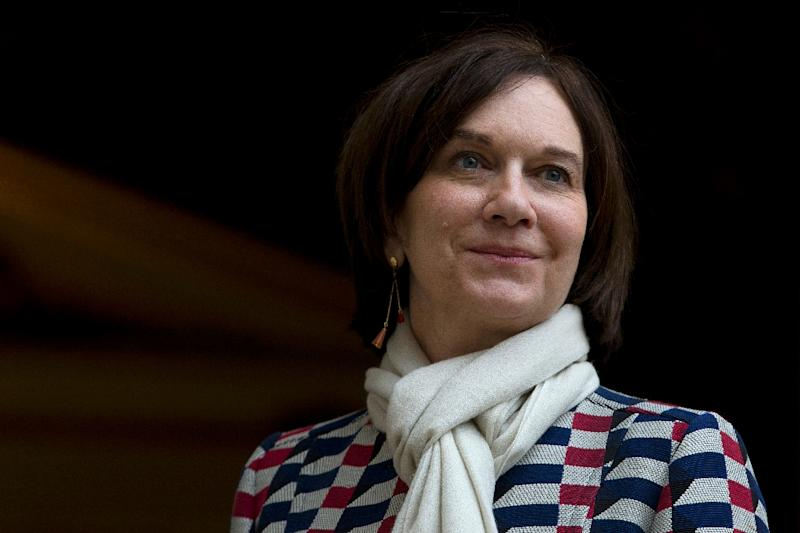 """French families minister Laurence Rossignol (pictured) sparked outrage on social mediawith her comment comparing women who wear the veil to """"negroes who supported slavery"""" (AFP Photo/Kenzo Tribouillard)"""
