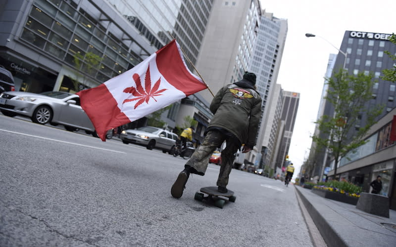 """<p>The province plans on selling marijuana to people aged 19 and older in stores run by the Liquor Control Board of Ontario. Cannabis will not be sold at the same stores as alcohol. Consumers will be able to buy marijuana online or in 40 stand-alone stores by July 2018. Eighty stores are expected by July 2019 and 150 stores should be open by 2020. The consumption of recreational cannabis will only be permitted in private residences, with exceptions for medical pot users. <a rel=""""nofollow"""" href=""""http://www.cbc.ca/news/canada/toronto/ontario-marijuana-shops-cannabis-act-passes-1.4444673"""">The Cannabis Act</a> was passed by Ontario on Dec. 12, 2017, which allows the government to implement seven-figure fines against those selling marijuana outside of the government monopoly. Municipalities will have the authority to close pot shops once owners are charged, even without a conviction. Photo from Getty Images. </p>"""
