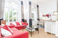 """<p>Check out the large windows of this family-friendly Airbnb with a garden view in the Saint-Lambert area. The duplex apartment has a comfortable living room with high ceilings, three bedrooms and TV room - ideal for teens. The dining and living space is ideal for spending the evenings together after days out exploring the city.</p><p><strong>Sleeps:</strong> 8</p><p><strong>Price per night: </strong>£204</p><p><a class=""""link rapid-noclick-resp"""" href=""""https://airbnb.pvxt.net/P0rLyR"""" rel=""""nofollow noopener"""" target=""""_blank"""" data-ylk=""""slk:SEE INSIDE"""">SEE INSIDE</a></p>"""
