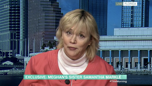 Samantha Markle appeared on This Morning today. (ITV)