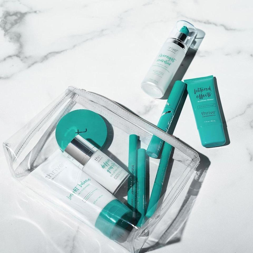 """They sellquality products at affordable prices, but, most important, they donate a portion of proceeds to causes like helping domestic abuse survivors, cancer survivors, animals, women in the workplace and homeless women.<br /><br />""""Their products are high-quality, affordable, and part of the proceeds go to people in need! We love helping others!!"""" —andreahcolantonio<br /><br /><strong><a href=""""https://thrivecausemetics.com/"""" target=""""_blank"""" rel=""""noopener noreferrer"""">Check out all that Thrive Causemetics has to offer.</a></strong>"""