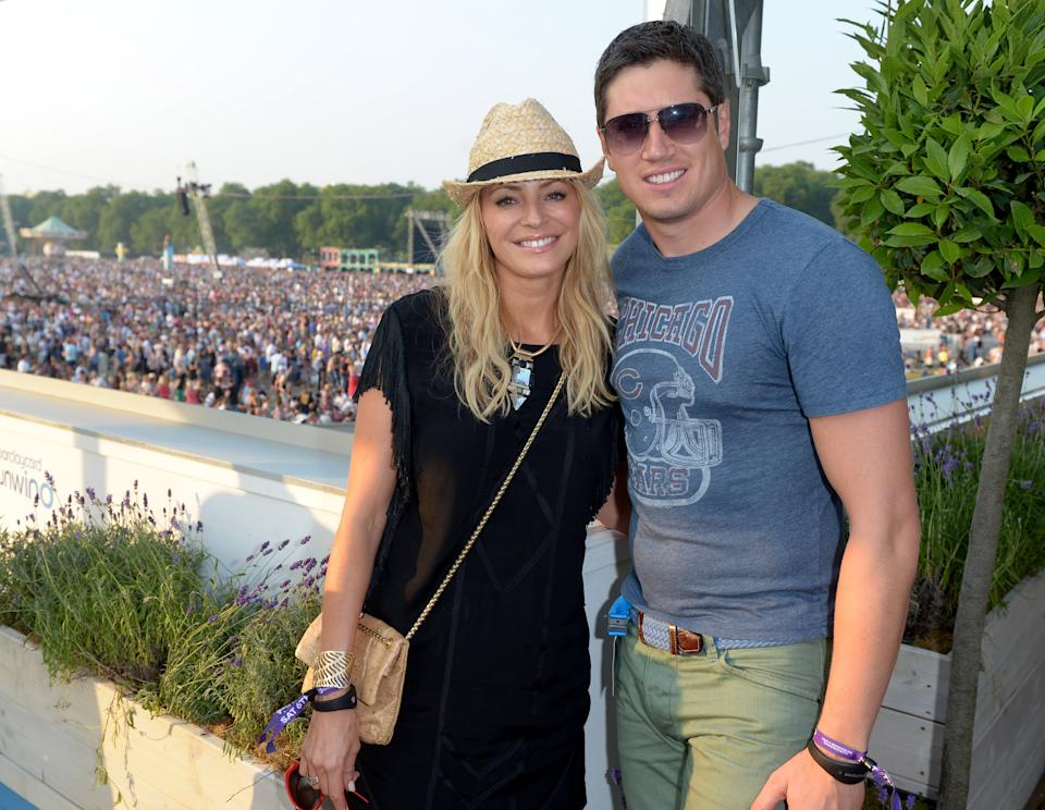 Tess Daly and Vernon Kay attend Barclaycard presents British Summer Time at Hyde Park in London on Saturday, July 6, 2013. (Photo by Jon Furniss/Invision for Barclaycard/AP Images)