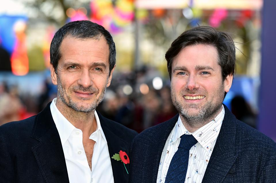 David Heyman and Paul King attending the Paddington 2 Premiere at BFI Southbank, London. PRESS ASSOCIATION Photo. Picture date: Sunday November 5, 2017. See PA story SHOWBIZ Paddington. Photo credit should read: Matt Crossick/PA Wire (Photo by Matt Crossick/PA Images via Getty Images)