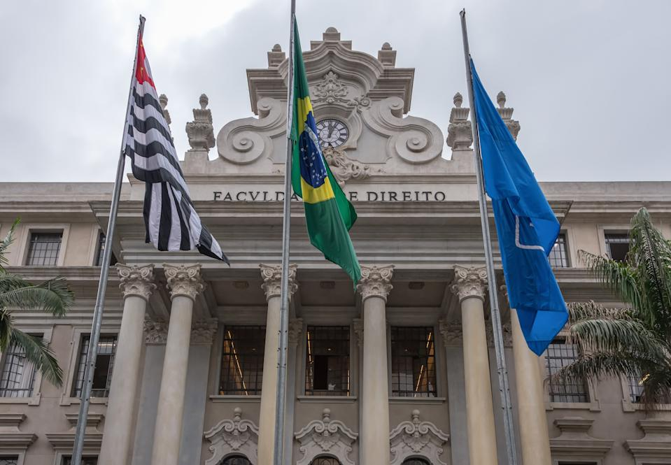 Sao Paulo city, Sao Paulo state, Brazil - October 07, 2019: Founded together with the Olinda Law School  Brazilian Emperor Dom Pedro I in1827, it is the oldest law school in Brazil.