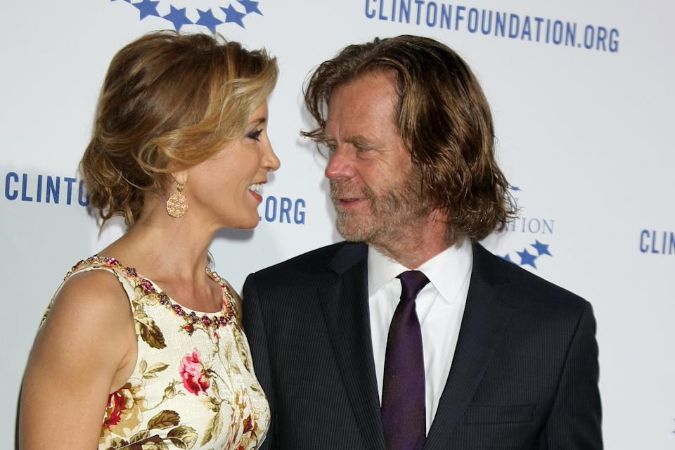 Actors William H Macy and Felicity Huffman
