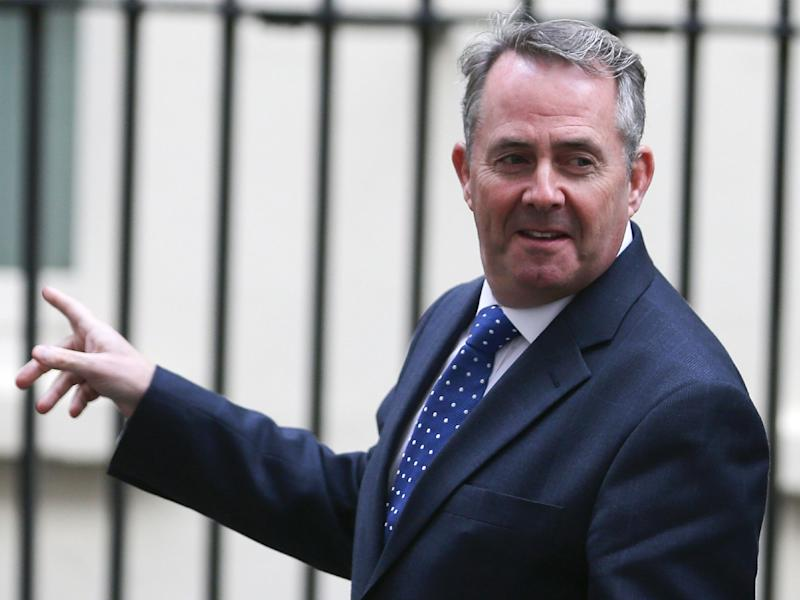 International Trade Secretary Liam Fox: Getty