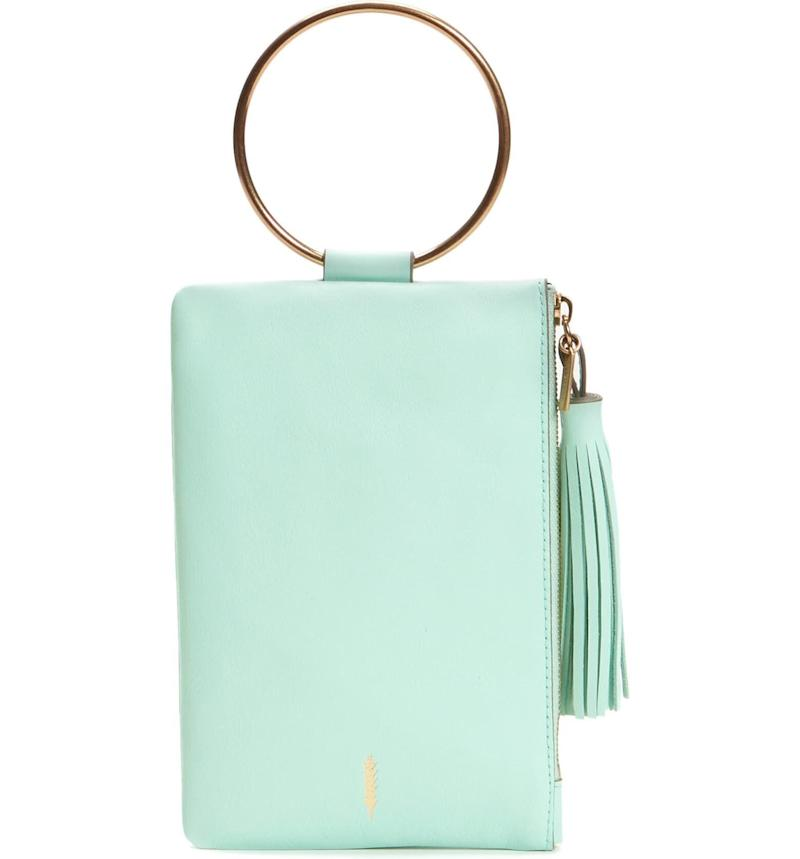 Nolita Ring Handle Leather Clutch
