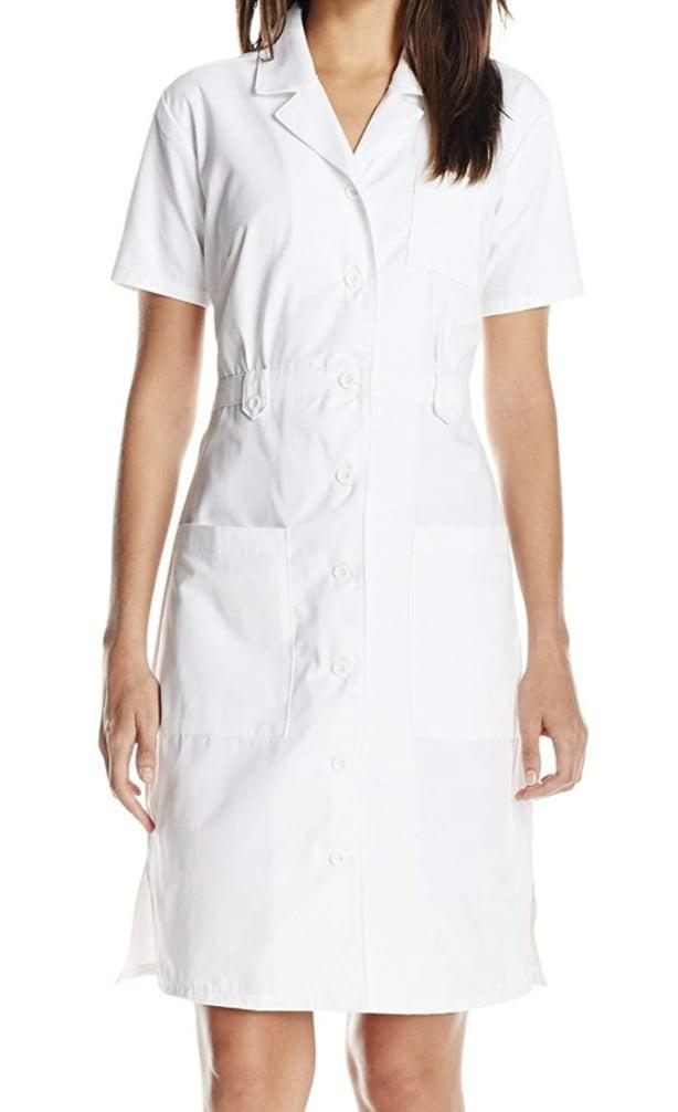 <p>This <span>Dickies Button Front Scrubs Dress</span> ($24-$32) is easy to pack on road trips.</p>