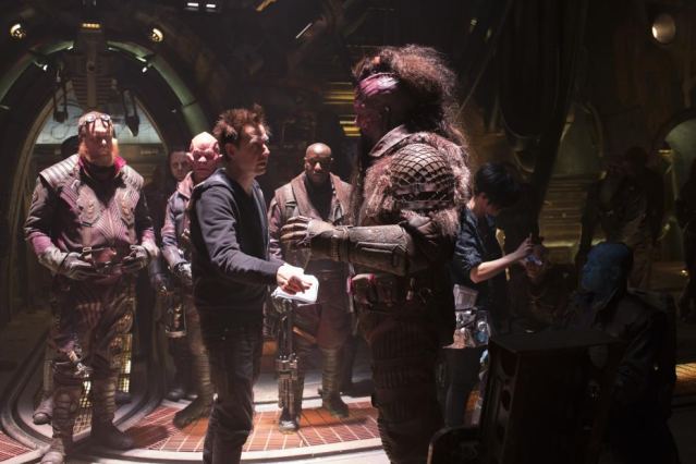 James Gunn on set of <i>Guardians of the Galaxy Vol. 2</i> (Photo: Marvel Studios)