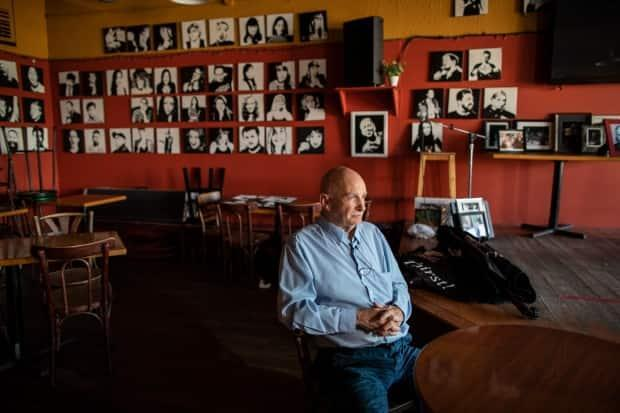 Owner Steve Adams at the Kino Cafe in Vancouver, British Columbia on Thursday, April 22, 2021.