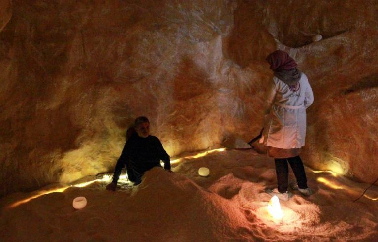 Libya's salt spa is located in an artificial salt cave and treatment includes the inhalation of salt particles which founder Iman Bugaighis says purifies the respiratory tract and brings benefits for the skin