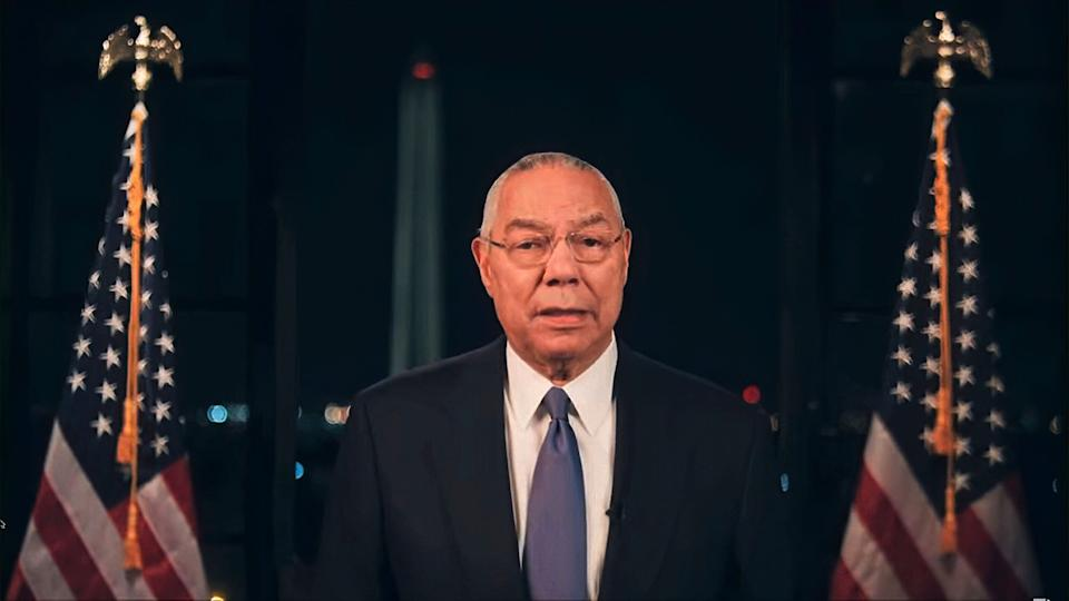 In this image from video made available before the start of the convention, former Secretary of State Colin Powell speaks during the second night of the Democratic National Convention on Tuesday, Aug. 18, 2020. (Democratic National Convention via AP) (Photo: ASSOCIATED PRESS)