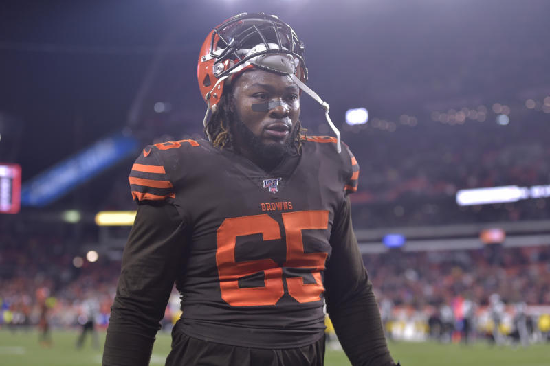 Appeals officer James Thrash upheld the one-game suspension for Browns' DL Larry Ogunjobi, above. (AP/David Richard)
