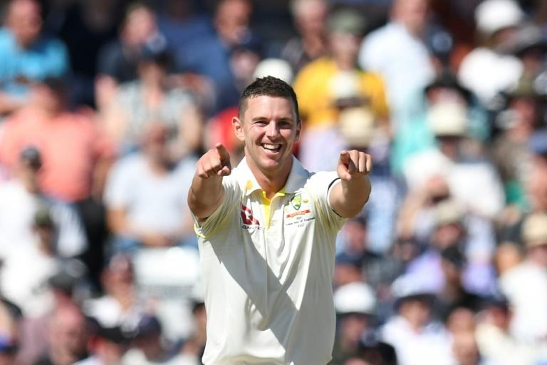 Five star - Australia's Josh Hazlewood took 5-30 as England collapsed to 67 all out in the third Ashes Test
