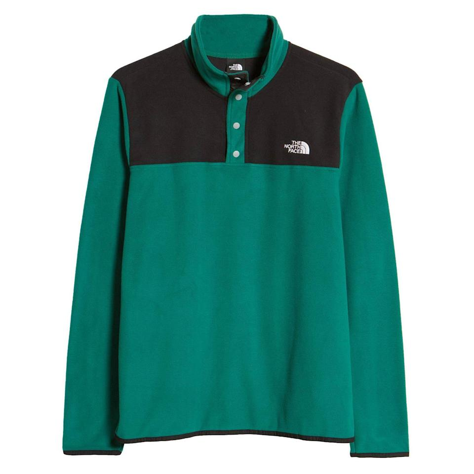 """<p><strong>The North Face</strong></p><p>nordstrom.com</p><p><a href=""""https://go.redirectingat.com?id=74968X1596630&url=https%3A%2F%2Fwww.nordstrom.com%2Fs%2Fthe-north-face-tka-glacier-snap-neck-mens-pullover%2F5783081&sref=https%3A%2F%2Fwww.esquire.com%2Fstyle%2Fmens-fashion%2Fg35967248%2Fnordstrom-mens-sale-march-2021%2F"""" rel=""""nofollow noopener"""" target=""""_blank"""" data-ylk=""""slk:Shop Now"""" class=""""link rapid-noclick-resp"""">Shop Now</a></p><p><strong><del>$59.00</del> $35.40 (40% off)</strong></p><p>One very good reason to savor those final few brisk mornings.</p>"""