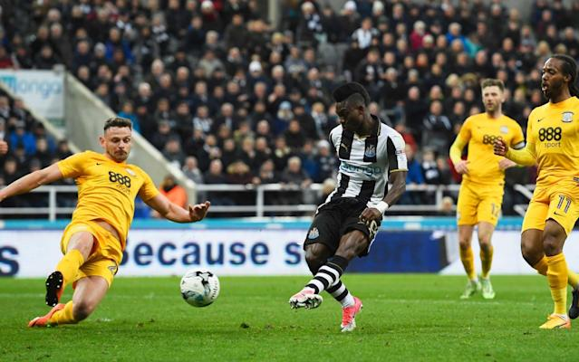 <span>Atsu puts Newcastle back in the lead</span> <span>Credit: Stu Forster/Getty Images Europe </span>