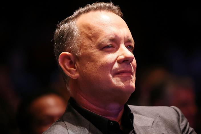 """Tom Hanks attends the launch of the Elizabeth Dole Foundation's """"Hidden Heroes"""" campaign at the U.S. Capitol Visitor Center on Sept. 27, 2016, in Washington, D.C."""