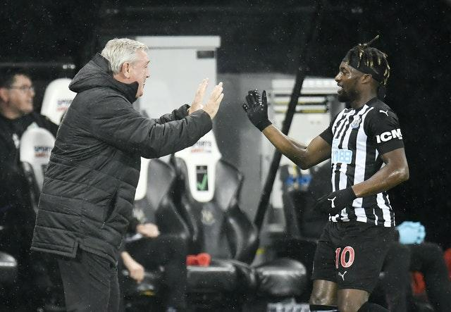 Bruce was delighted with Allan Saint-Maximin's performance