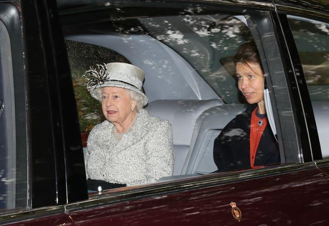 Queen attends church service