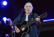 FILE - Singer-songwriter Paul Simon performs at Global Citizen Live on Sept. 25, 2021, in New York. Simon turns 80 on Oct. 13. (Photo by Evan Agostini/Invision/AP, File)