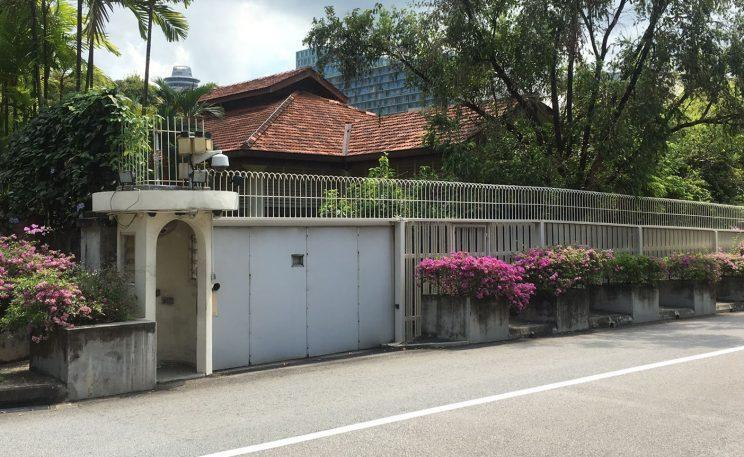 The house at 38 Oxley Road, where the late Mr Lee Kuan Yew lived. (Yahoo Singapore file photo)