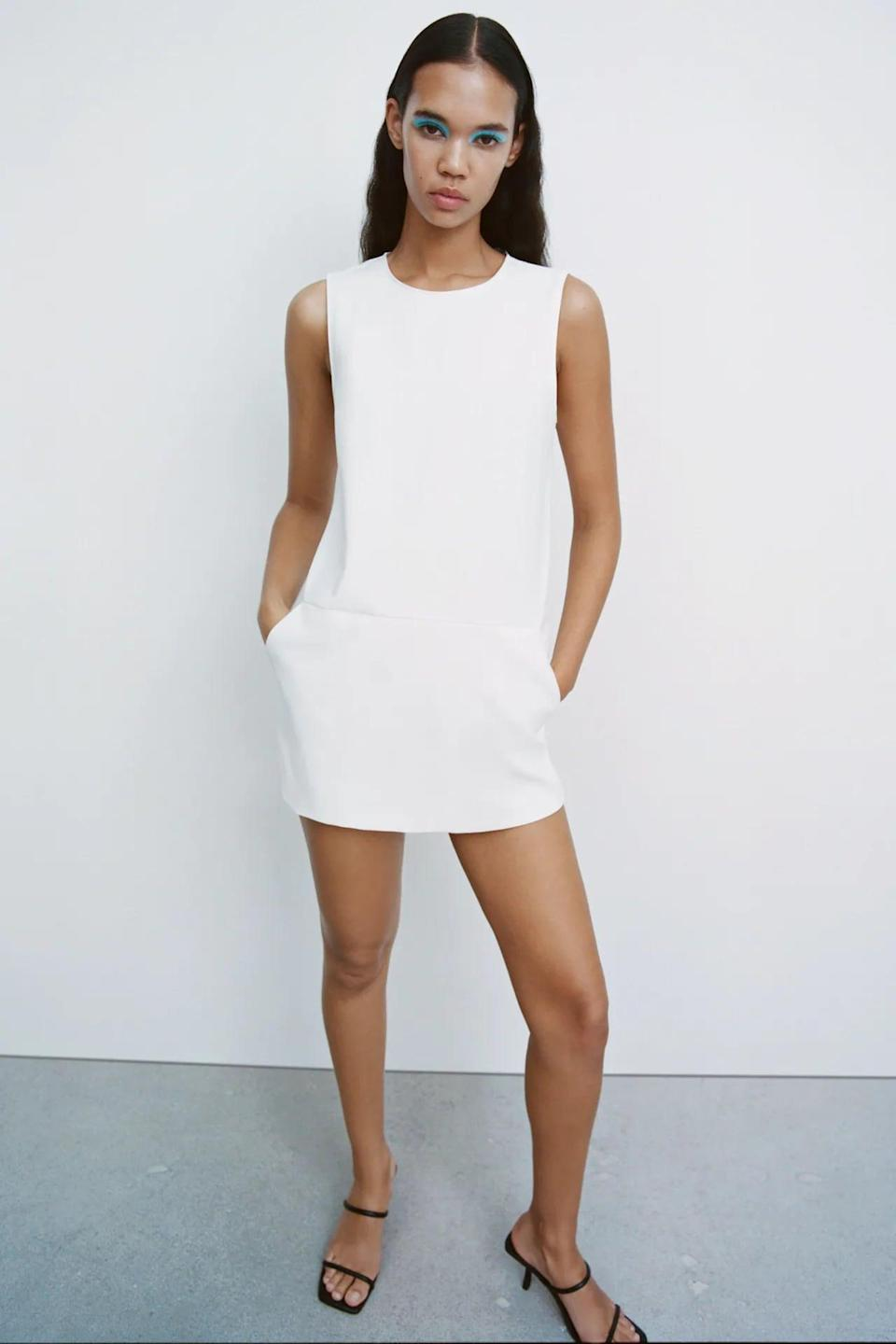 <p>Wear this <span>Zara Jumpsuit Dress</span> ($40) with strappy heels for a refined look.</p>