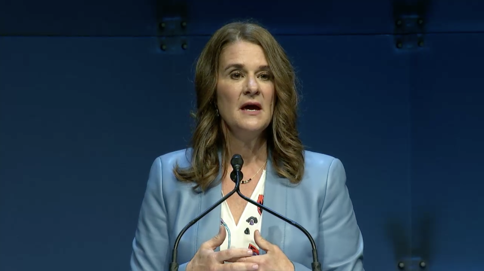 """Businesswoman and philanthropist Melinda Gates recalled on Wednesday the """"hardest experience"""" of her life while onstage at the annual Grace Hopper Conference for Women in Computing, held in Orlando, Florida, this year."""