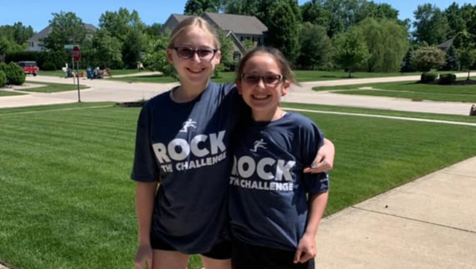 """Ava and Stella Rose, sisters who have Usher syndrome, were born deaf. Now, their mother, Anna, is ensuring they have """"visual memories"""" as their eyesight deteriorates. (Photo: Anna Chambers)"""