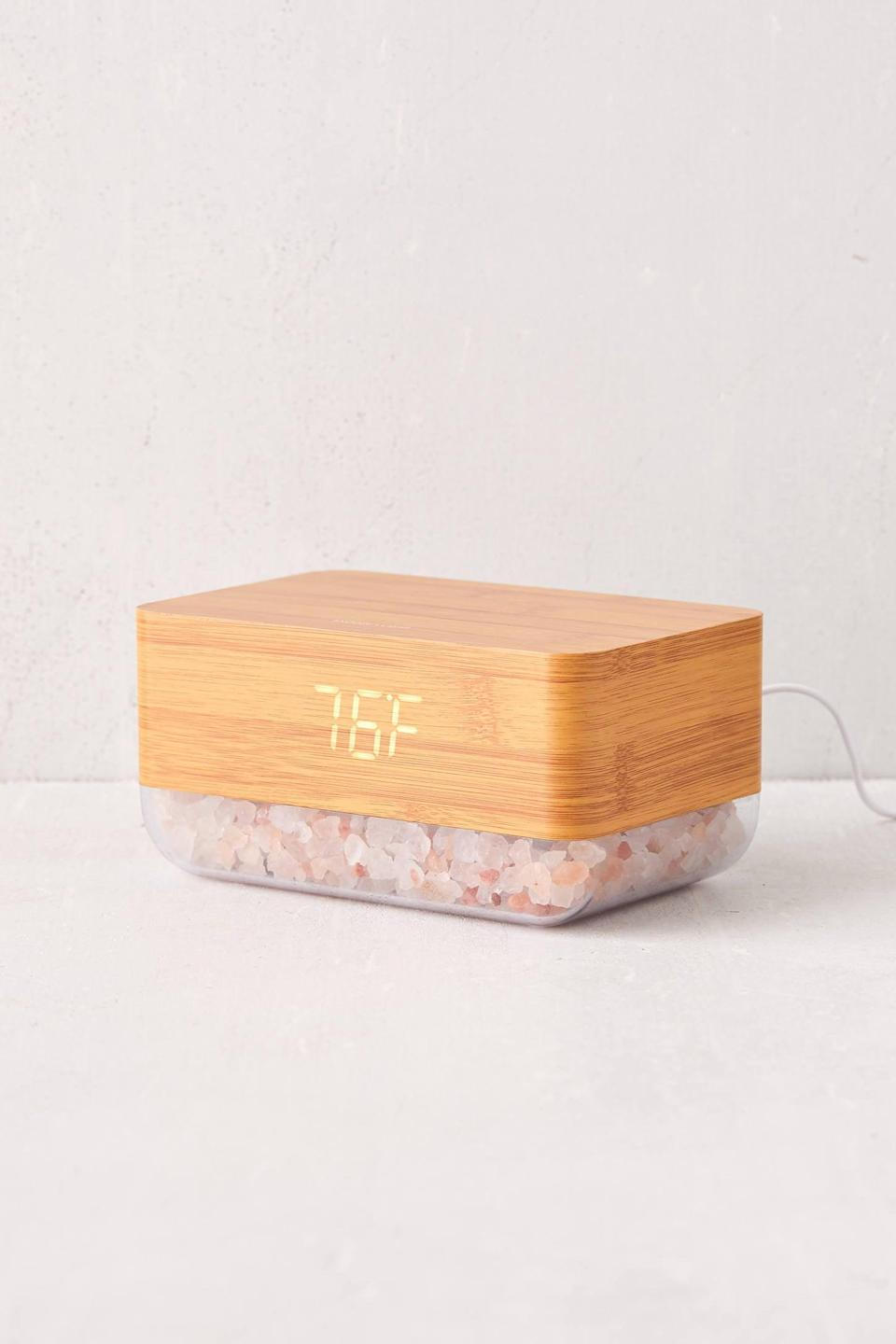 "<h2>Mahli Himalayan Salt Sunrise Alarm Clock</h2><br>Both calming and functional, the Mahli alarm clock offers a soothing glow and scent. <br><br><strong>Mahli</strong> Mahli Himalayan Salt Sunrise Alarm Clock, $, available at <a href=""https://go.skimresources.com/?id=30283X879131&url=https%3A%2F%2Fwww.urbanoutfitters.com%2Fshop%2Fmahli-himalayan-salt-sunrise-alarm-clock%3F"" rel=""nofollow noopener"" target=""_blank"" data-ylk=""slk:Urban Outfitters"" class=""link rapid-noclick-resp"">Urban Outfitters</a>"