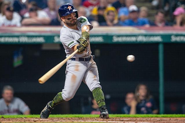 Houston's Jose Altuve is singling on 71.62 percent of his hits compared to 67 percent each of the last two years. (Getty Images)