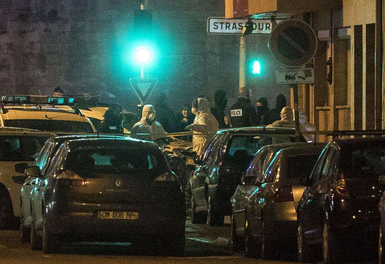 Investigating police officers work in a street of Strasbourg, eastern France, Thursday, Dec. 13, 2018. A man suspected of being the gunman who killed three people near a Christmas market in Strasbourg died in a shootout with police Thursday following a two-day manhunt. (Photo: Jean-Francois Badias/AP)