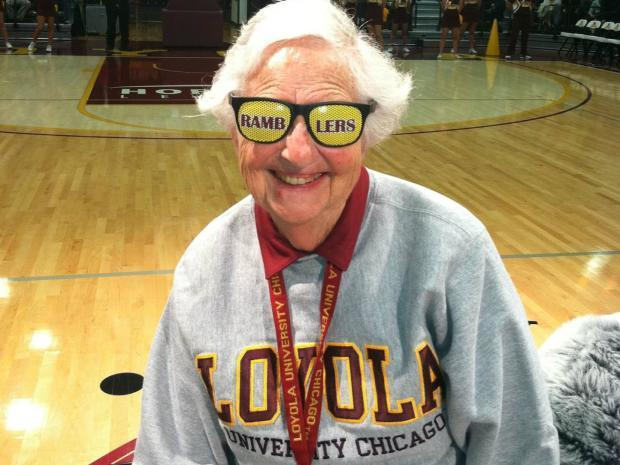 Sister Jean Schmidt is a beloved member of the Loyola-Chicago basketball team. (Loyola photo)