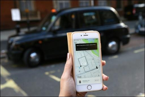 Uber-Nutzerin in London