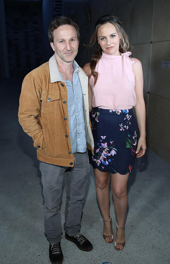 Breckin Meyer and Alicia Silverstone at 'Clueless' screening at Hollywood Forever Cemetery