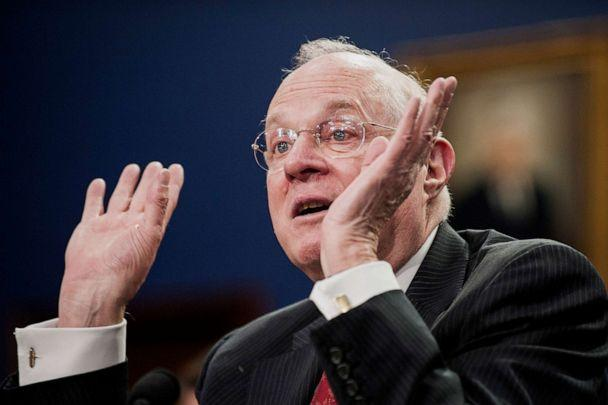 PHOTO: U.S. Supreme Court Justice Anthony Kennedy testifies during a Financial Services and General Government Subcommittee in Washington, March 23, 2015. (Bloomberg via Getty Images, FILE)