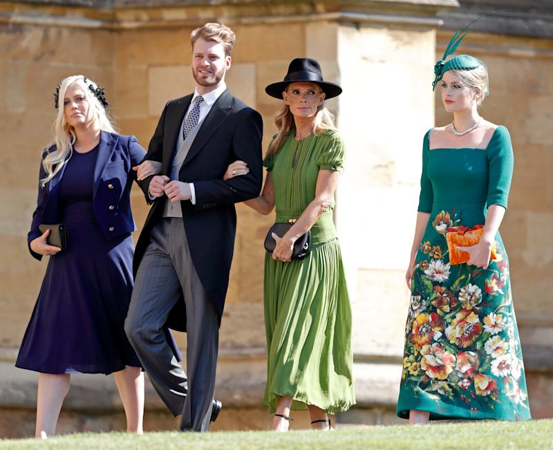 Lady Eliza, Louis, and mother Victoria Aitken alongside Kitty Spencer attend Prince Harry and Meghan Markles wedding