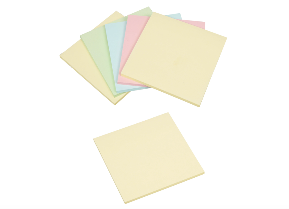 Jot Pastel Colored Sticky Notes, 200-ct. Packs (Photo: Dollar Tree)