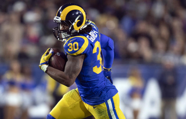 """Rams running back Todd Gurley will maintain his health with a """"veteran plan."""" (AP Photo/Kyusung Gong, File)"""