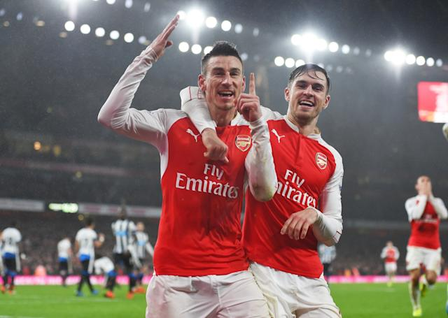 Aaron Ramsey and Laurent Koscielny