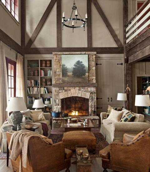Country Rustic Living Room: 14 Of The Most Gorgeous Living Rooms In The South